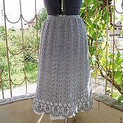 Одежда ручной работы. Ярмарка Мастеров - ручная работа юбка из хлопка Пепельное кружево. Handmade.