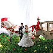 Куклы и игрушки ручной работы. Ярмарка Мастеров - ручная работа Свадебный экипаж (миниатюра). Handmade.