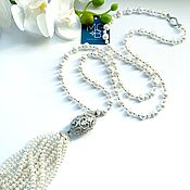 Украшения handmade. Livemaster - original item Pearl sautoir
