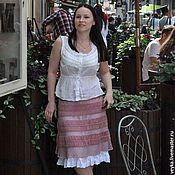 Одежда manualidades. Livemaster - hecho a mano De punto de ganchillo falda de Flamenco