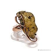 Украшения handmade. Livemaster - original item Ring with green amber