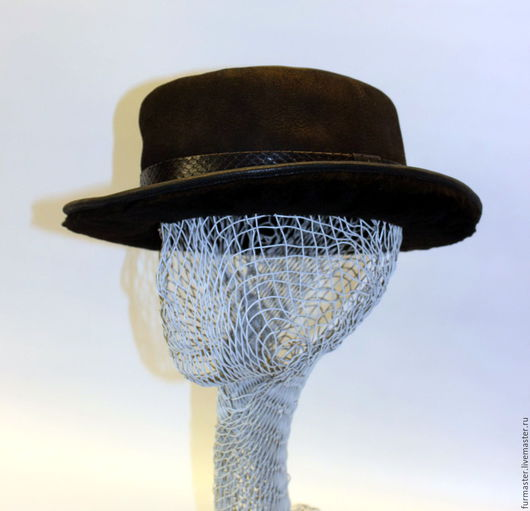 """Шляпы ручной работы. Ярмарка Мастеров - ручная работа. Купить шляпа """"MORMON"""". Handmade. Черный, дублёночная овчина"""