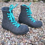 Обувь ручной работы. Ярмарка Мастеров - ручная работа Валяные ботинки SMART. Handmade.