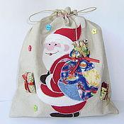 Подарки к праздникам ручной работы. Ярмарка Мастеров - ручная работа Новогодний мешочек для подарков. Handmade.