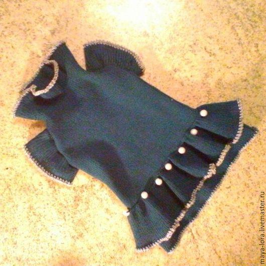 """Одежда для собак, ручной работы. Ярмарка Мастеров - ручная работа. Купить Одежда для собак. Платье """"Перламутр"""". Handmade. Тёмно-зелёный"""