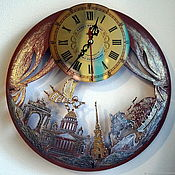 Fabulous St Petersburg Wall Clock With A Pendulum In A Wooden Case Kupit Na Yarmarke Masterov Hchplcom Chasy Klassicheskie St Petersburg