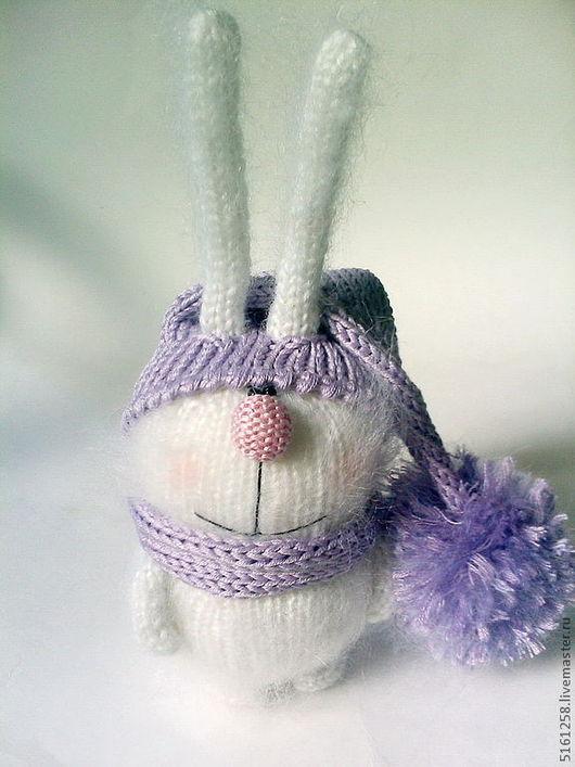 """Игрушки животные, ручной работы. Ярмарка Мастеров - ручная работа. Купить Вязаный зайчик """"пУшастик"""". (Вязаные игрушки зайцы ). Handmade."""