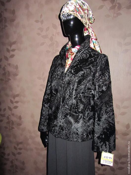 Верхняя одежда ручной работы. Ярмарка Мастеров - ручная работа. Купить Жакет из каракульчи СВАКАРА. Handmade. Черный, каракуль