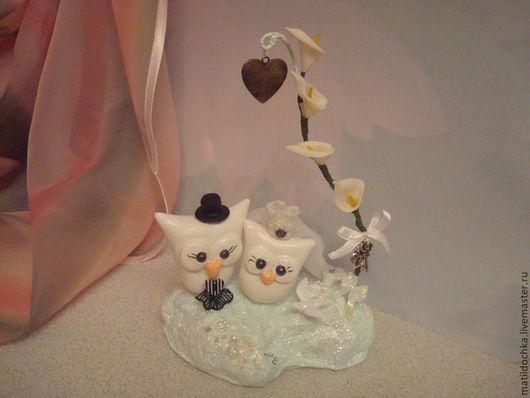 Свадебные аксессуары ручной работы. Ярмарка Мастеров - ручная работа. Купить Фигурки Свадебные совы. Handmade. Белый, свадьба