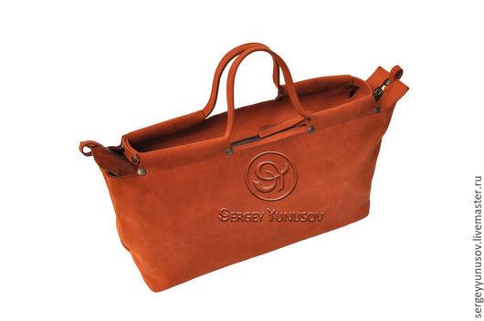 Спортивные сумки ручной работы. Ярмарка Мастеров - ручная работа. Купить S-fox. Handmade. Рыжий нубук, кожаная косметичка