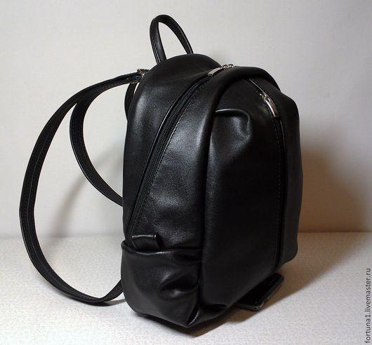 Рюкзаки ручной работы. Ярмарка Мастеров - ручная работа. Купить Рюкзак кожаный круглый 22. Handmade. Черный, рюкзак городской