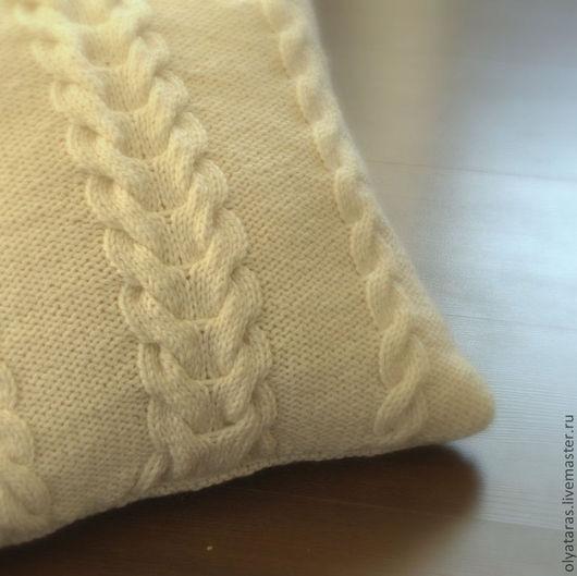 """Текстиль, ковры ручной работы. Ярмарка Мастеров - ручная работа. Купить Декоративная подушка """"Заплетенка"""". Handmade. Белый, для дома и интерьера"""
