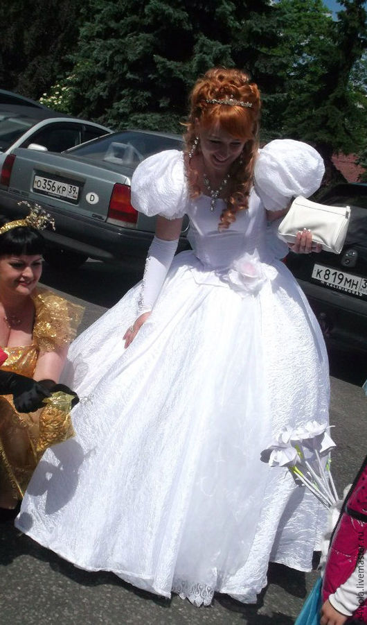 Карнавальные костюмы ручной работы. Ярмарка Мастеров - ручная работа. Купить Костюм принцессы Жизель. Handmade. Белый, Платье нарядное