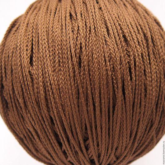 Для украшений ручной работы. Ярмарка Мастеров - ручная работа. Купить Шнур плетеный полиэфирный 1,5 мм кофе-с-молоком. Handmade.
