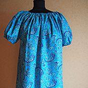 """Одежда ручной работы. Ярмарка Мастеров - ручная работа Платье """"Пейсли голубое"""". Handmade."""
