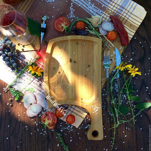 Декоративная посуда ручной работы. Ярмарка Мастеров - ручная работа. Купить АРТ №50. Handmade. Доска для подачи, Деревянная посуда