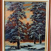 Картины и панно ручной работы. Ярмарка Мастеров - ручная работа Картина  бисером. В лесу.. Handmade.