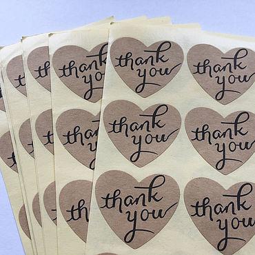 """Материалы для творчества ручной работы. Ярмарка Мастеров - ручная работа Наклейки """"Thank you"""". Handmade."""