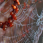Украшения ручной работы. Ярмарка Мастеров - ручная работа Комплект Багряная осень. Handmade.