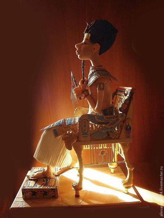 Коллекционные куклы ручной работы. Ярмарка Мастеров - ручная работа. Купить Тутанхамон. Handmade. Золотой, пластик