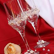 Свадебный салон ручной работы. Ярмарка Мастеров - ручная работа Свадебные бокалы в ассортименте. Handmade.