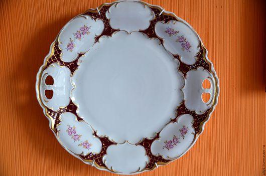 Винтажная посуда. Ярмарка Мастеров - ручная работа. Купить Большое(30 см) фарфоровое блюдо ХХ века. Handmade. Тарелка