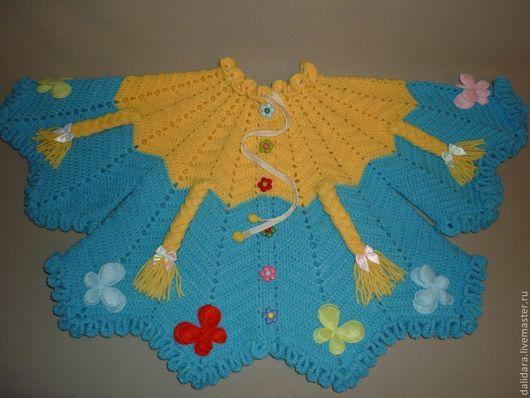 Одежда для девочек, ручной работы. Ярмарка Мастеров - ручная работа. Купить Кофточка детская вязаная «Солнечный день», для девочки. Handmade.