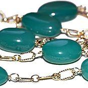 Украшения handmade. Livemaster - original item Gold plated necklace with onyx