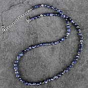 Работы для детей, handmade. Livemaster - original item Natural cut sapphire beads. Handmade.