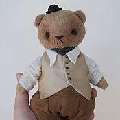 Мягкие игрушки ручной работы. Ярмарка Мастеров - ручная работа Мишка в жилетке. Handmade.
