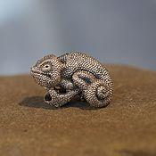 Материалы для творчества handmade. Livemaster - original item Chameleon charm. Handmade.