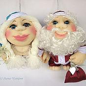 Подарки к праздникам ручной работы. Ярмарка Мастеров - ручная работа Скидка 40 % Кукла Попик Дед Мороз и Снегурочка - кукла на удачу. Handmade.