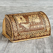 Русский стиль handmade. Livemaster - original item Wooden cat