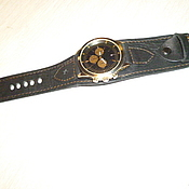 """Аксессуары ручной работы. Ярмарка Мастеров - ручная работа ремешок на часы """"монолит"""". Handmade."""
