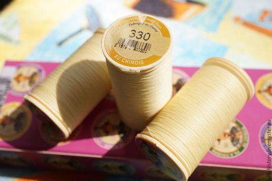 Нитки № 330, цвет: светло-желтый (палевый). В наличии 2 шт.