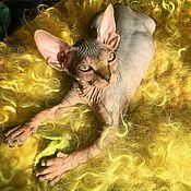"""Лежанки ручной работы. Ярмарка Мастеров - ручная работа Лежанка для кошки из шерсти """"Весенняя зелень"""". Handmade."""