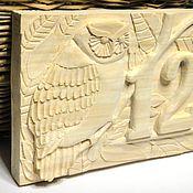 Двери ручной работы. Ярмарка Мастеров - ручная работа Номер дома табличка Подарок мужчине Адресная табличка из дерева. Handmade.