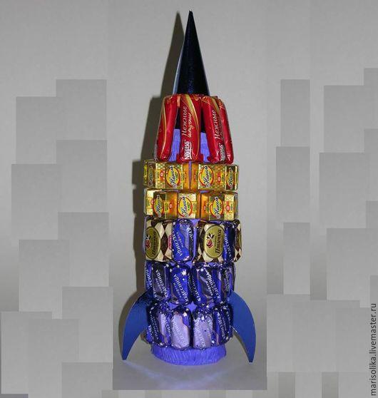 Кулинарные сувениры ручной работы. Ярмарка Мастеров - ручная работа. Купить Ракета. Handmade. Тёмно-синий, подарок на 23 февраля
