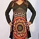 Платье трикотажное с солнцем | LiluGirl точка РУ