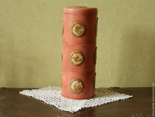 """Кухня ручной работы. Ярмарка Мастеров - ручная работа. Купить Банка """" Цветочная башня """". Handmade. Розовый, дамы"""