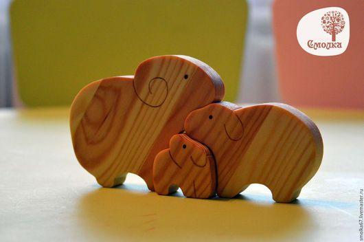 Развивающие игрушки ручной работы. Ярмарка Мастеров - ручная работа. Купить Семья барашек. Развивающая деревянная игрушка-пазл.. Handmade.