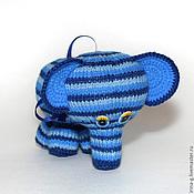 """Куклы и игрушки ручной работы. Ярмарка Мастеров - ручная работа Вязаная игрушка """"Радужный слоник"""". Handmade."""