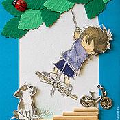 """Открытки ручной работы. Ярмарка Мастеров - ручная работа Открытка """"Детство"""". Handmade."""