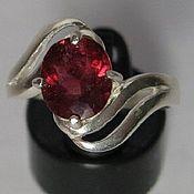 Редкость! Красный 2.05 крт натур. турмалин & кольцо серебро 925 пр