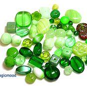 Материалы для творчества handmade. Livemaster - original item 20 g Beads Czech Mix Green mix 7 0330 glass beads Preciosa. Handmade.
