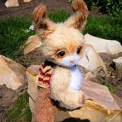 Stuffed Toys handmade. Livemaster - original item Knitted toy Teddy squirrel squirrel beige. Handmade.