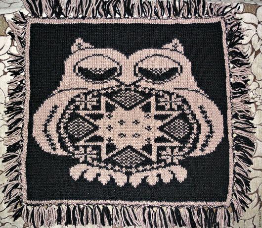 Текстиль, ковры ручной работы. Ярмарка Мастеров - ручная работа. Купить Вязаное сиденье на кресло  Мистер Сова. Handmade. Сиденье