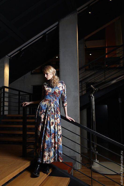 Платья ручной работы. Ярмарка Мастеров - ручная работа. Купить Длинное платье ЦВЕТ. Handmade. Сулимина, платье длинное