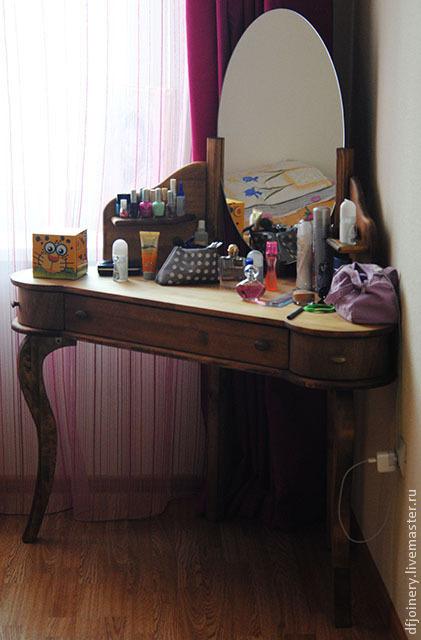 Туалетный столик из дерева, Столы, Тюмень,  Фото №1