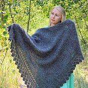 Аксессуары handmade. Livemaster - original item Shawls: Down shawl with an openwork border. Handmade.